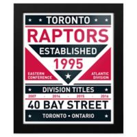 NBA Toronto Raptors Dual Tone Team Sign Framed Print
