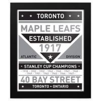 NHL Toronto Maple Leafs Black and White Team Sign Framed Print