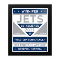 NHL Winnipeg Jets Dual Tone Team Sign Framed Print