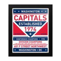 NHL Washington Capitals Dual Tone Team Sign Framed Print