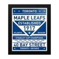 NHL Toronto Maple Leafs Dual Tone Team Sign Framed Print