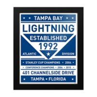 NHL Tampa Bay Lightning Dual Tone Team Sign Framed Print