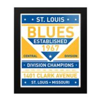 NHL St. Louis Blues Dual Tone Team Sign Framed Print