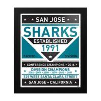 NHL San Jose Sharks Dual Tone Team Sign Framed Print