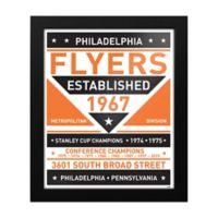 NHL Philadelphia Flyers Dual Tone Team Sign Framed Print