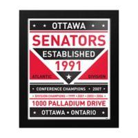 NHL Ottawa Senators Dual Tone Team Sign Framed Print