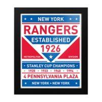 NHL New York Rangers Dual Tone Team Sign Framed Print