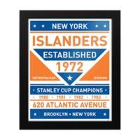 NHL New York Islanders Dual Tone Team Sign Framed Print