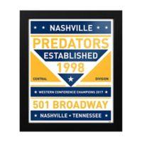 NHL Nashville Predators Dual Tone Team Sign Framed Print