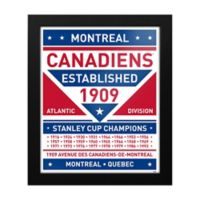 NHL Montreal Canadiens Dual Tone Team Sign Framed Print