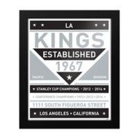 NHL Los Angeles Kings Dual Tone Team Sign Framed Print