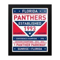 NHL Florida Panthers Dual Tone Team Sign Framed Print