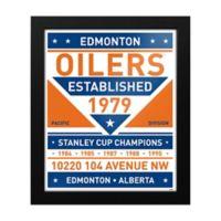 NHL Edmonton Oilers Dual Tone Team Sign Framed Print