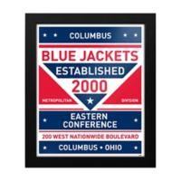 NHL Columbus Blue Jackets Dual Tone Team Sign Framed Print