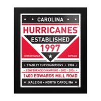 NHL Carolina Hurricanes Dual Tone Team Sign Framed Print