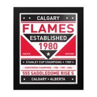 NHL Calgary Flames Dual Tone Team Sign Framed Print