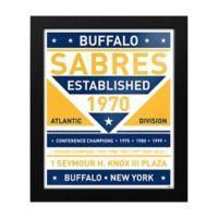 NHL Buffalo Sabres Dual Tone Team Sign Framed Print