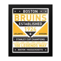 NHL Boston Bruins Dual Tone Team Sign Framed Print