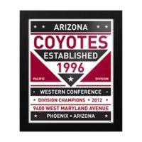 NHL Arizona Coyotes Dual Tone Team Sign Framed Print