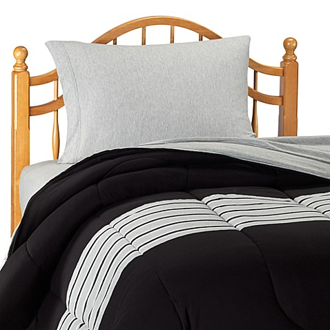 nautica glen cove black comforter with sheet set twin extra long twin bed bath beyond. Black Bedroom Furniture Sets. Home Design Ideas