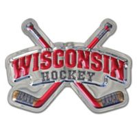 University of Wisconsin Badgers Hockey Logo Wall Art in Red/Black