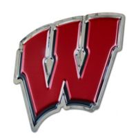 "University of Wisconsin Small ""W"" Logo Wall Art in Red/Black"