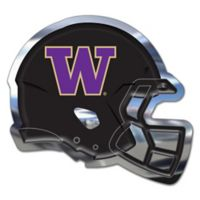 University of Washington Medium Football Helmet Wall Art in Black/Purple