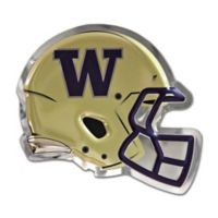 University of Washington Medium Football Helmet Wall Art in Gold/Purple
