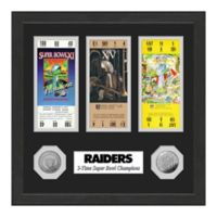 NFL Oakland Raiders Super Bowl Champions Ticket and Commemorative Coin Collection