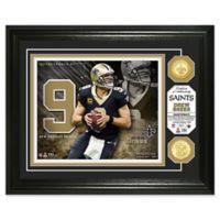 NFL Drew Brees Bronze Coin Photo Mint