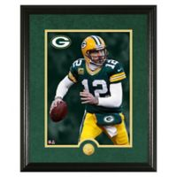 NFL Aaron Rodgers Canvas Art Gold Coin Photo Mint