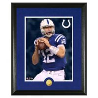 NFL Andrew Luck Canvas Art Gold Coin Photo Mint
