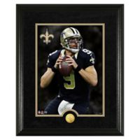 NFL Drew Brees Canvas Art Gold Coin Photo Mint