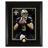 NFL Drew Brees Canvas Art Gold Coin Photo Mint
