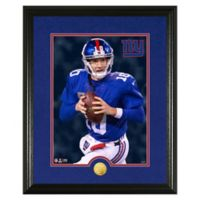 NFL Eli Manning Canvas Art Gold Coin Photo Mint