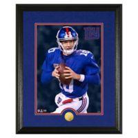 NFL Eli Manning Canvas Art Gold Coin Photo Mint