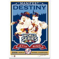 MLB New York Yankees 2009 World Series Champions Serigraph