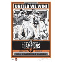 MLB San Francisco Giants 2014 World Series Champions Serigraph