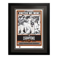 MLB San Francisco Giants 2014 World Series Champions Framed Serigraph