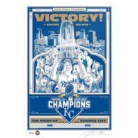 MLB Kansas City Royals 2015 World Series Champions Serigraph