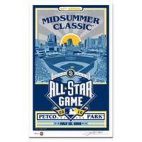MLB 2016 All-Star Game San Diego Stadium That's My Ticket Serigraph