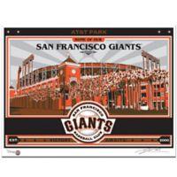 MLB San Francisco Giants AT&T Park Framed Serigraph