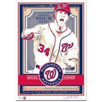 MLB Washington Nationals Bryce Harper Serigraph