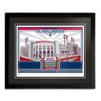 MLB St. Louis Cardinals Busch Stadium Framed Serigraph