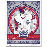 MLB Colorado Rockies Carlos Gonzales That's My Ticket Serigraph