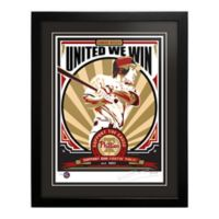 MLB Philadelphia Phillies Chase Utley That's My Ticket Serigraph with Frame