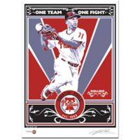 MLB Philadelphia Phillies Jimmy Rollins That's My Ticket Serigraph
