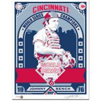 MLB Cincinnati Reds 1976 World Series Champions Johnny Bench That's My Ticket Serigraph