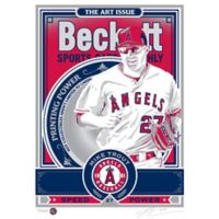 MLB Los Angeles Angels Mike Trout That's My Ticket Serigraph