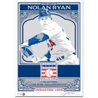 MLB Texas Rangers Nolan Ryan That's My Ticket Serigraph
